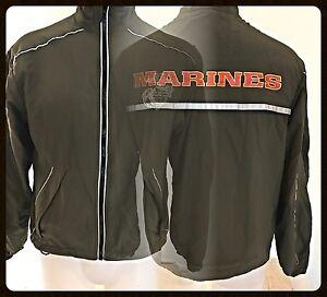 USMC US MARINE CORPS EGA Running zip Up PT Jacket MEDIUM  REGULAR EXCELLENT