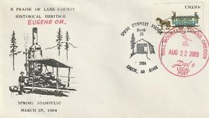 2009 USA cover Private Post - Doc`s Lokal Post Spring Stampfest Eugene OR