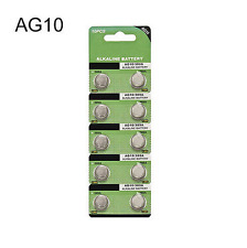 Whoesale 10pcs Lot AG10 LR1130 389 LR54 L1131 189 Button Cell Coin Battery New