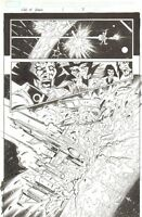 War of Kings 1 pg 3 - Star Jammers Shi Spaceship art by Ramon Perez