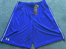 NWT Mens Under Armour S Bright Blue/Neon Lime Green Stripe Flex Shorts Small