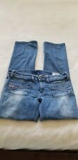 Womens Diesel Industry Blue Jeans Wenga Wash 0081G Straight Leg Stretch 31 x 32