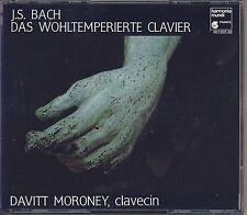 J.S. Bach - Moroney (Clavecin): Das Wohltemperierte Clavier (4 CDs,HMF) Like New