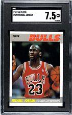 1987-88 Fleer #59 Michael Jordan BULLS SGC 7.5 NM+