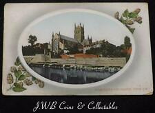 Old Postcard of Worcester Cathedral From S.W 1911