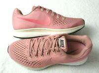 Nike Womens Air Zoom Pegasus 34 Running Shoes Rust Tropical Pink Size 11 NEW