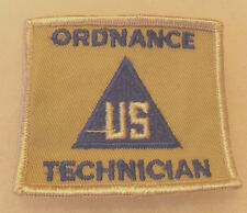 """VN ARMY """"US ORDNANCE TECHNICIAN"""" NON COMBATANT PATCH TAN TWILL LIGHT TAN ME BRDR"""