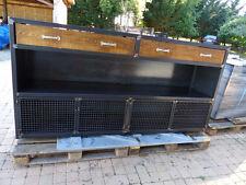 Buffet / comptoir industriel en bois et mètal sur mesure création meuble métal