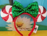 New Disney Parks Mickey Minnie Mouse Lollipop Candy Cane Cutie Ears Headband