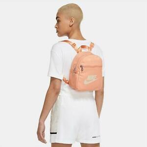 Nike Sportswear Futura 365 Mini Backpack Apricot Orange Pearl CW9301-808