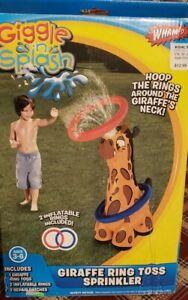 Giggle N Splash Giraffe Ring Toss Sprinkler Water Game AND Arm Floats Whamo