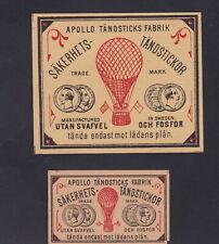 Ensemble Ancienne étiquette  allumettes Suède BN119000 Ballon
