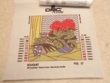 DMC Actuelle Made in France Unworked Tapestry Canvas 20 x 20cm - 'Bouquet'