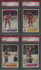 1977 O-Pee-Chee NHL Hockey PSA 8 avg lot of 11 diff NHL/WHA graded cards 44477