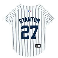 GIANCARLO STANTON #27 Yankees MLBPA Officially Licensed Pinstripe Dog Jersey