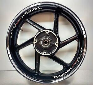 Triumph Speed Triple Grey & White REFLECTIVE, Wheel Rim Sticker 025/052