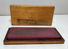 2� 125mm X 50mm Used Degussit Ruby abrasive bench stone 5�x