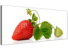 Red Cheap Canvas Picture of Strawberry for Kitchen 1074