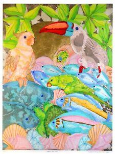 Margaret Albritton original handcolored etching