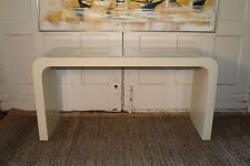 Mid Century Waterfall Laminate Console Sofa Hall Table Carl Springer Style