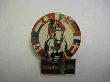 1996 Atlanta Olympics - Equestrian Multi-Flag Pin