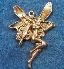 25Pcs. WHOLESALE Tibetan Silver Large FAIRY Angel Charms Pendants Findings Q0267