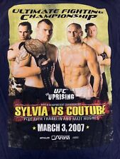 UFC Uprising Sylvia Vs Randy Couture 2007 Championship T-Shirt Size Medium VTG
