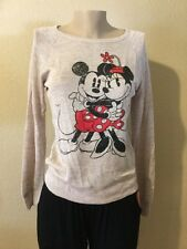 Disney MICKEY & MINNIE Sweater Ivory Color Size M