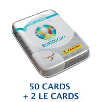 EURO 2020 SOCCER PANINI ADRENALYN POCKET TIN (6 PACKS+2 LIMITED) 50 CARDS TOTAL