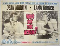 WHO'S GOT THE ACTION? (1962) Orig Quad Movie Poster - Dean Martin, Lana Turner