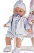 Antonio Juan Munecas baby doll Blue Polka Dot Outfit