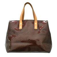 Louis Vuitton Read PM M91993 Monogram Vernis Tote Hand Bag Amarante France