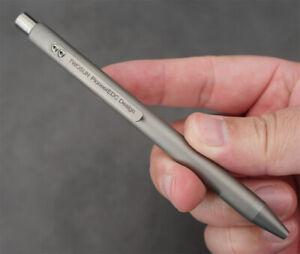 Twosun CNC Titanium AlloyTactical Office Push Button Mechanism Pen TS-PEN23-Sand