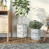 Set Of 2 Modern Planters Indoor Plant Pots Bohemian Style Mid-Century Home Decor