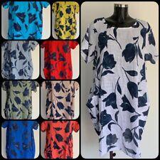 Womens Ladies Tulip Print 100% Baumwolle Pumphose Kleid 9 Farben