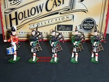 BRITAINS 41004 HOLLOWCAST CAMERON HIGHLANDERS BAND METAL TOY SOLDIER FIGURE SET4