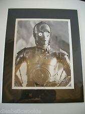 Star Wars Celebration VI 6 C-3PO Anthony Daniels Official Pix matted photo rare