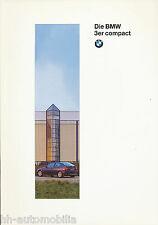 BMW  3er compact Prospekt 1996 - 6 11 03 05 10 1 1996 brochure Pkw Auto Europa