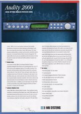 "1998 Sales Sheet: E-mu Systems ""Audity 2000 Digital Rhythmic Modular Synthesizer"