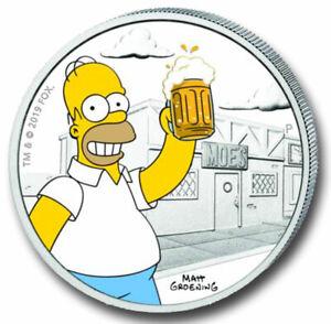 Pièce D'Argent Tuvalu, Die Simpsons™, Homer Simpson™ , 1 Once, 2019 Pp