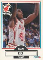 Glen Rice 1990-91 Fleer #101 Miami Heat Basketball Card