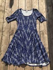 Lularoe Nicole Blue Aztec Size Large