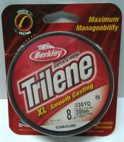 Berkley Trilene XL Fishing Line 330 Yards Clear 8 Lb Test Made in USA XLFS8-15