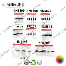 100x Assorted Diode Kit, 86063 1N4148 1N4007 1N5819 1N5399 1N5408 1N5822 FR107