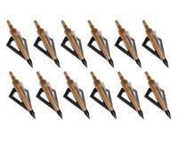 12pcs Archery Broadheads 125Grain Arrowheads Tip Hunting for Carbon Arrows DIY