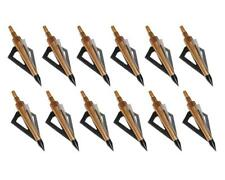 12pcs IRQ Archery Broadheads 125Grain Arrowheads Tip Hunting Carbon Arrows