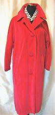New listing Vguc Marguerite Rubel L Watermelon Pink Velvet 50s Mad Men Vintage Lined Coat