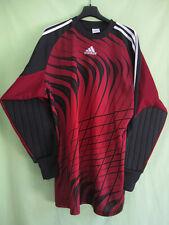 Maillot ADIDAS 90'S Vintage Bordeaux noir Gardien Goal Shirt Jersey - L