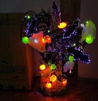 "glowing Fiber Optic 18"" Halloween Tree Avon Spooky Bat Ghost Jack-o-lantern Cat"