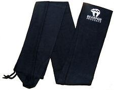 "New Bearpaw Archery Longbow Black Fleece Cover Cases Draw String Bows 78"" 196cm"
